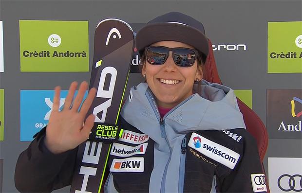 Wendy Holdener greift beim Weltcupfinale in Soldeu nach dem ersten Slalom-Weltcupsieg