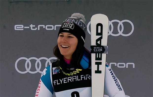 Wendy Holdener schwang beim Riesentorlauf von Courchevel als Dritte ab