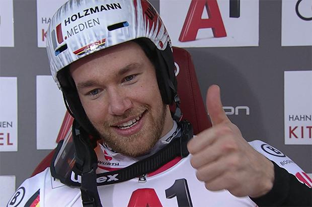 Sebastian Holzmann beendete das Rennen auf dem Ganslernhang, mit Startnummer 65 auf Position 17.