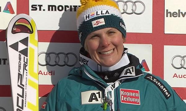 Niki Hosp ist am St. Moritz Wochenende rasant auf die Erfolgsstraße zurückgekehrt.
