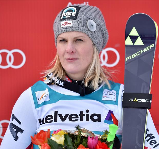 Fotocredit: Fischer Sports/GEPA / Platz 3 für Niki Hosp beim Super-G in St. Moritz