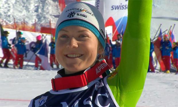 Die Slalom Junioren-Weltmeisterin 2018 heißt Meta Hrovat