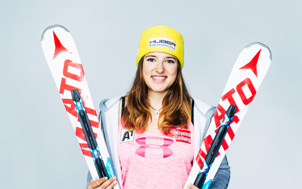 Katharina Huber freut sich auf das Skitraining in Neuseeland (Foto: Futterknecht)