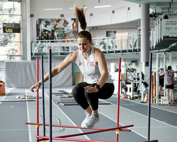 """""""Kathi"""" Huber beim Sommertraining im Olympiazentrum Salzburg/Rif (Foto: © Katharina Huber / privat)"""