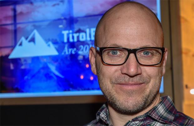 Im TirolBerg berichtete Stefan Illek, der PR-Mann von Marcel Hirscher, zu dessen Gesundheitszustand und Erwartungen für den WM-Slalom. (Foto: Tirol Werbung / Erich Spiess)