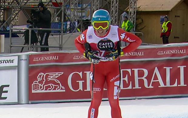 Christof Innerhofer fährt im Training mit Fieber auf Platz drei