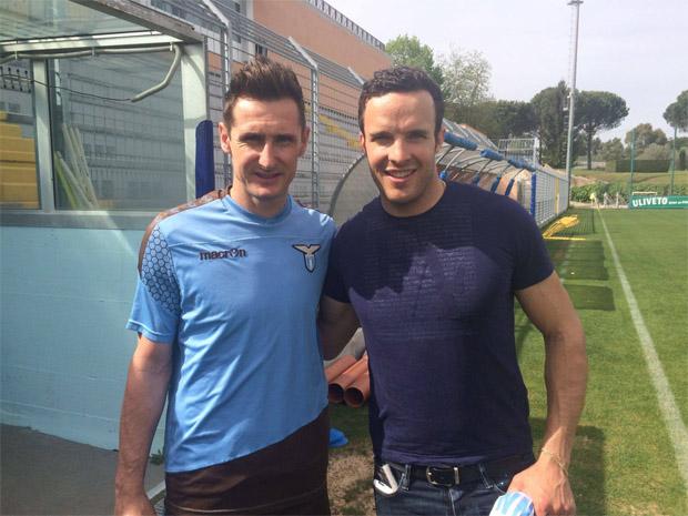 Christof Innerhofer trifft Miroslav Klose (Facebook / Christof Innerhofer)