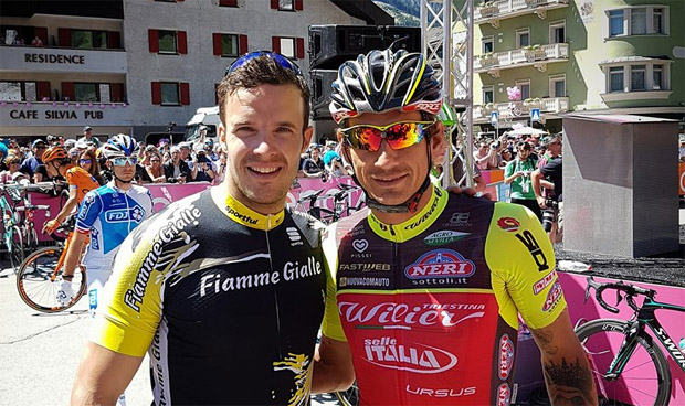 Christof Innerhofer und Filippo Pozzato (Foto: Christof Innerhofer / Facebook)