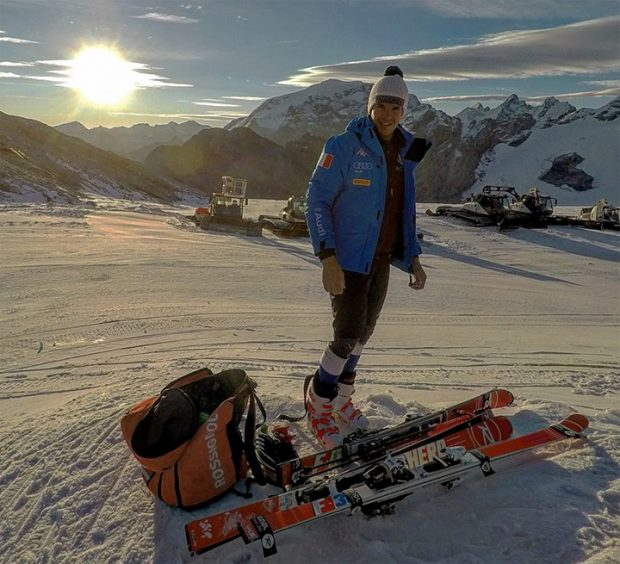 Christof Innerhofer und Co. schauen auf ein gutes Training am Stilfser Joch zurück (Foto: Christof Innerhofer / Facebook)