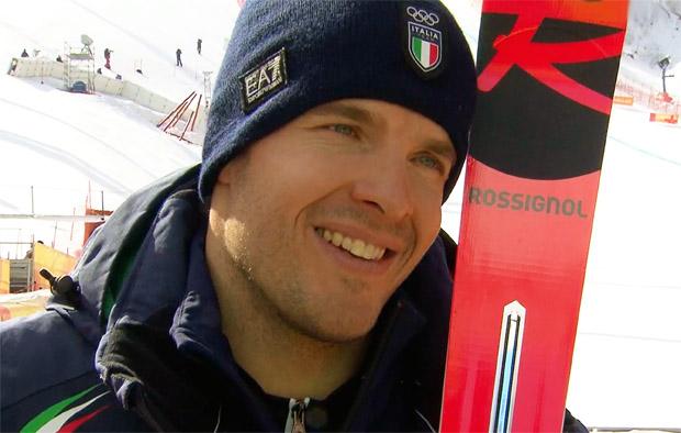 Christof Innerhofer freut sich über Tagesbestzeit beim zweiten Olympischen Abfahrtstraining