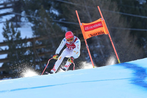 Christof Innerhofer erzielte die Tagesbestzeit beim 1. Abfahrtstraining in Bormio (Foto: Roby Trab / © bormioskiworldcup.com)