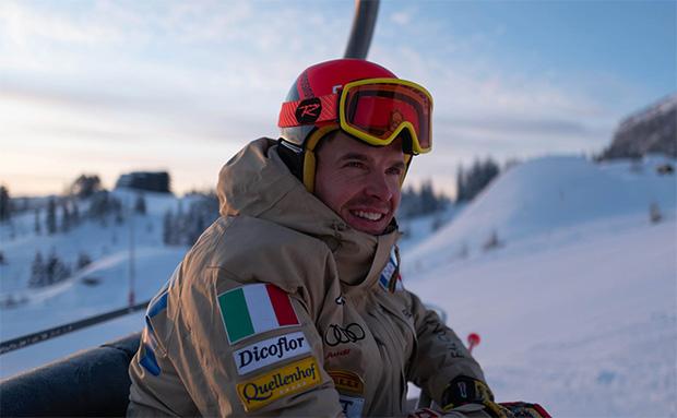 Christof Innerhofer hat beim Training am Stilfser Joch die Maske im Gepäck (Foto: Christof Innerhofer / privat)