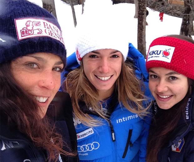 Federica Brignone, Francesca Marsaglia und Karoline Pichler (Foto: Federica Brignone, facebook)
