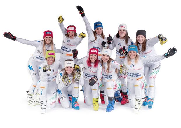 © Archivio FISI / Hochbetrieb bei den Italienische Ski-Damen (Photo: Alessandro Trovati /Pentaphoto)