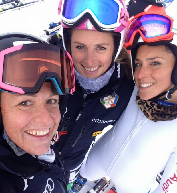 Elena & Nadia Fanchini, Federica Brignone (Foto: Elena Fanchini / facebook)