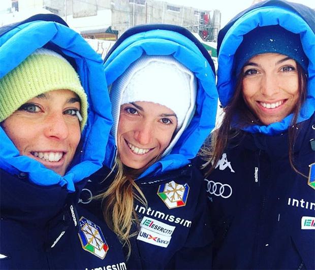 Federica Brignone, Marta Bassino und Elena Curtoni (Foto: Federica Brignone / facebook)