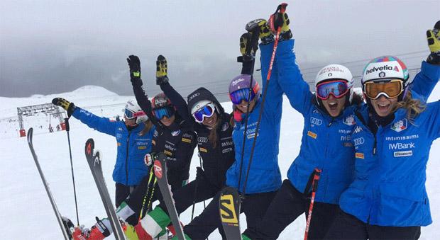 Winterliches Wetter begleitet Marta Bassino und Co. (Foto: FISI.org)
