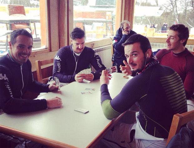 © facebook - Siegmar Klotz / Italiens Speed-Herren beim Watten