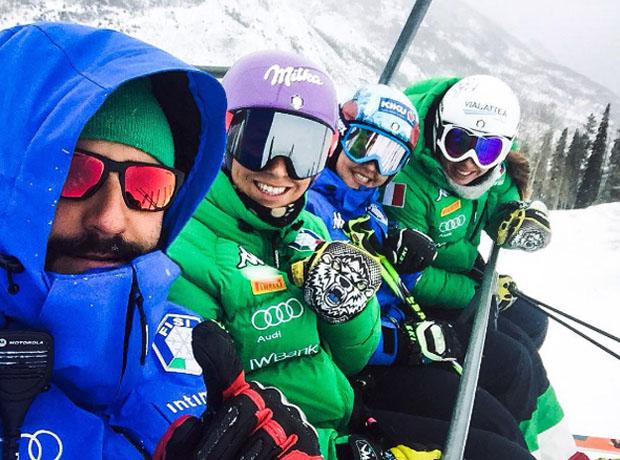 Mattia Lavelli, Elena Curtoni, Karoline Pichler und Francesca Marsaglia (Foito: instagram / Karoline Pichler)