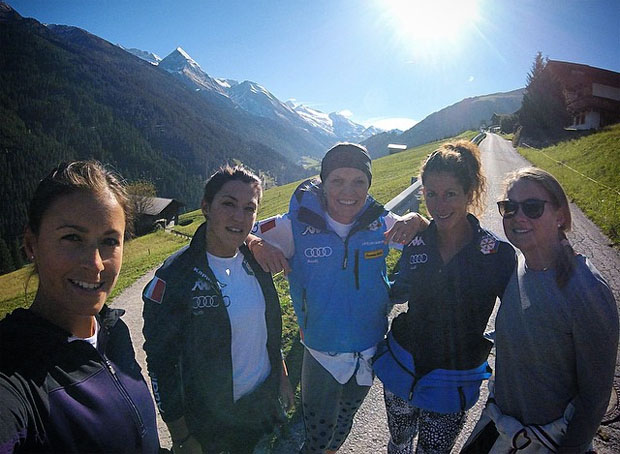 Irene Curtoni, Nicole Agnelli, Manuela Mölgg, Chiara Costazza und Lisa Magdalena Agerer (Foto: Chiara Costazza)