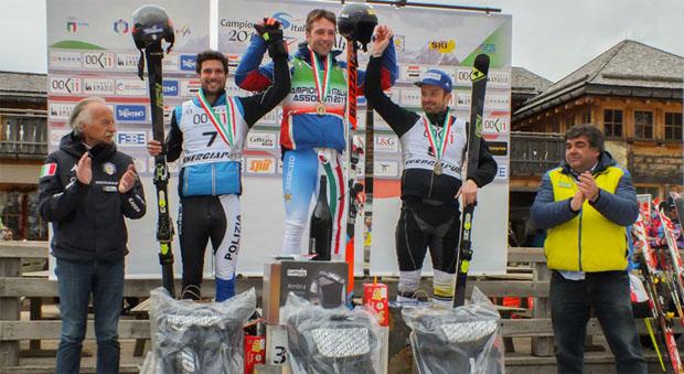 © Archivio FISI (Pentaphoto) / Giulio Giovanni Bosca gewinnt knapp Italienmeistertitel im Riesenslalom