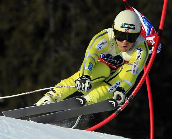 (PHOTOPRESS/Lise Aserud)  Kjetil Jansrud feiert ersten Weltcupsieg