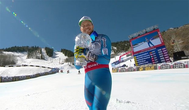 Kjetil Jansrud holt sich beim Weltcupfinale in Aspen Super-G-Kugel ab