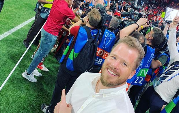 """Kjetil Jansrud feiert mit seinen """"Reds"""" den Champions-League-Sieg (© Kjetil Jandrud / Facebook)"""