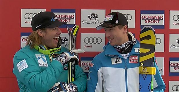 Kjetil Jansrud und Hannes Reichelt - 1009 Tage musste das ÖSV-Team auf den nächsten Super-G Sieg warten.