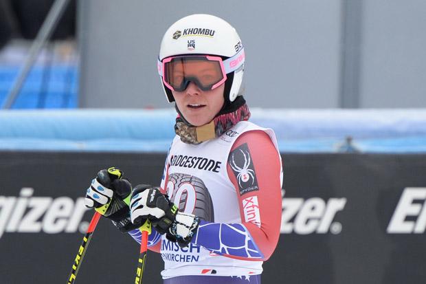 © Ch. Einecke (CEPIX) / Breezy Johnson mit Bestzeit beim Probelauf in Garmisch-Partenkirchen