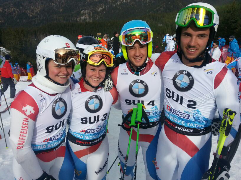 © swiss-ski.ch  /  Corinne Suter, Rahel Kopp, Luca Aerni und Bernhard Niederberger (v.l.n.r.)