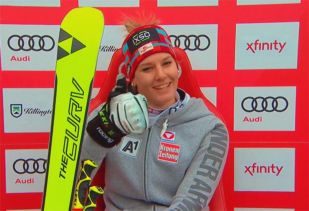 Hat auch in Killington gezeigt, dass sie zu den besten Risentorläuferinnen des Teams zählt: Elisabeth Kappaurer