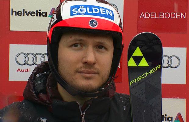 Alexander Khoroshilov liegt nach dem 1. Slalom-Durchgang von Wengen in Führung