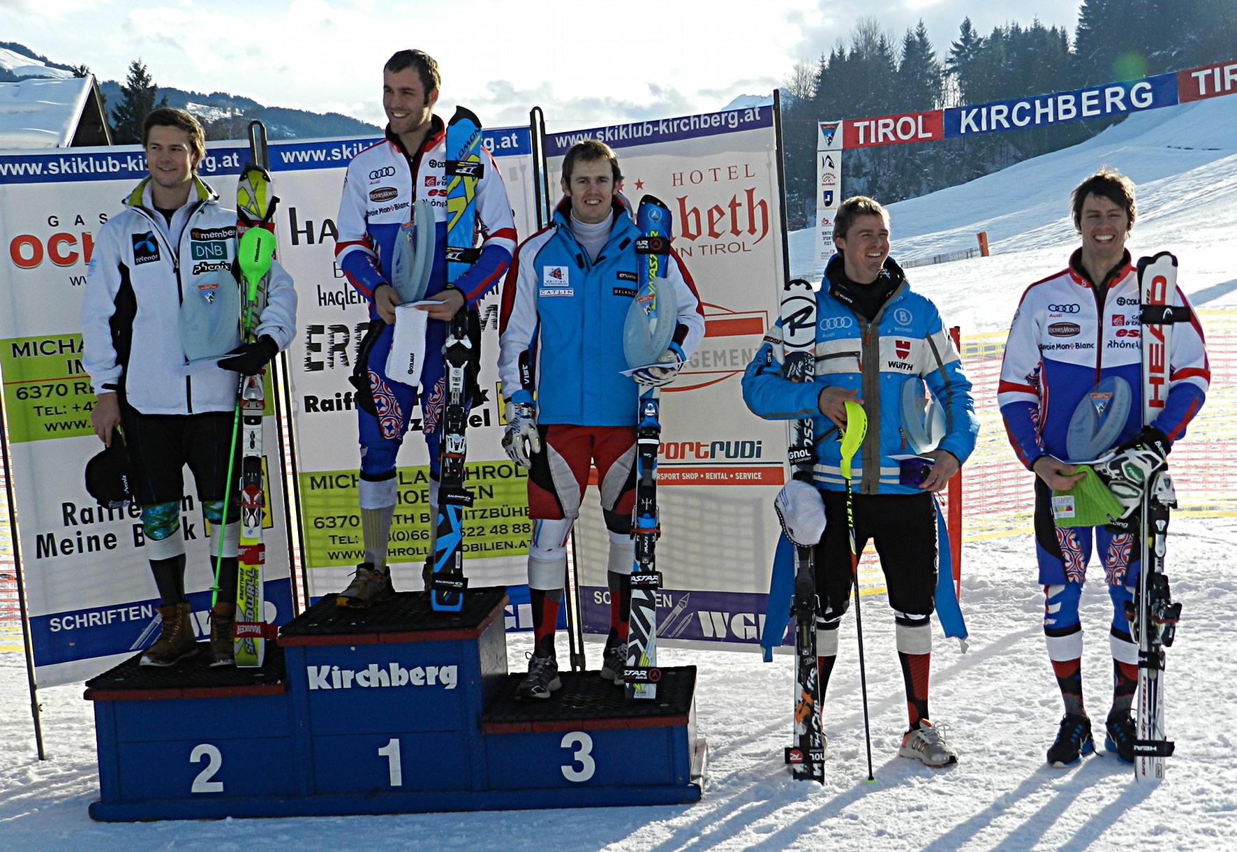 Siegerpodest - EC Slalom in Kirchberg