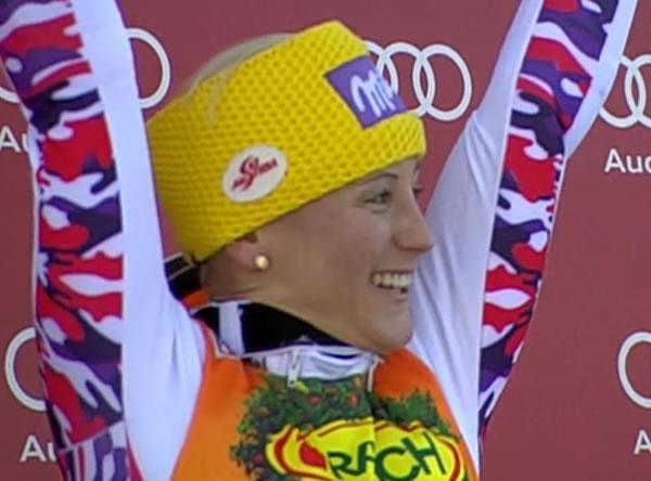 Michaela Kirchgasser, die nach der Halbzeitführung auch nach einem fulminanten zweiten Lauf triumphierte.
