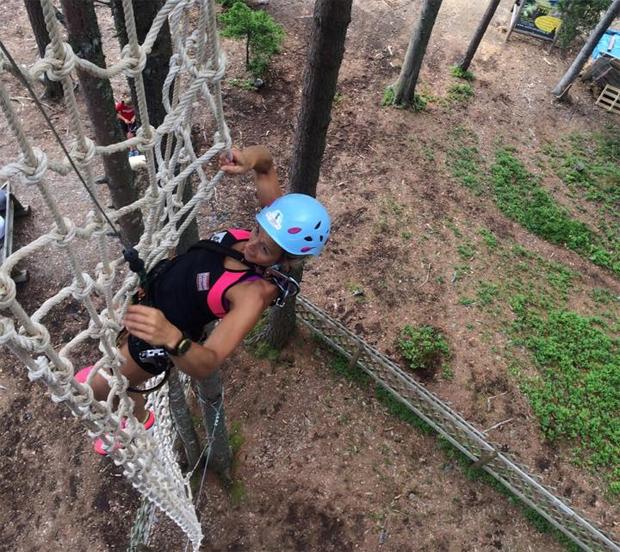"""© privat Michaela Kirchgasser: """"Kletterpark Lienz!!!  Eine richtige Challenge und richtig viel Spaß!!!!!"""""""