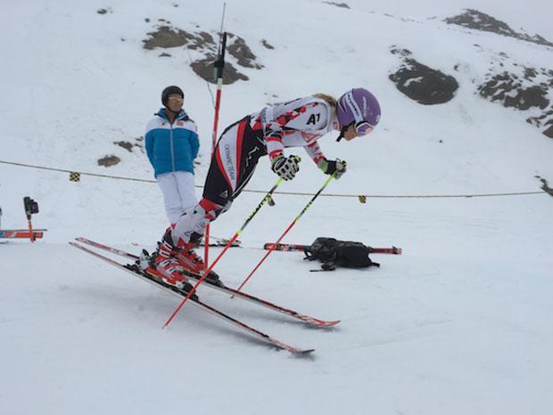Rund drei Wochen vor dem Ski Weltcup Auftakt in Sölden steht das Riesentorlauftraining für Michaela Kirchgasser im Fokus. (Foto: ÖSV/Malzer)