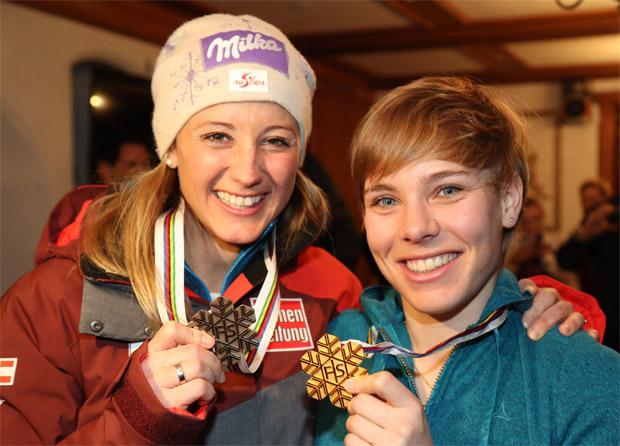 © Kraft Foods / Michi Kirchgasser und Nici Schmidhofer bei der SKI-WM 2017 in St. Moritz
