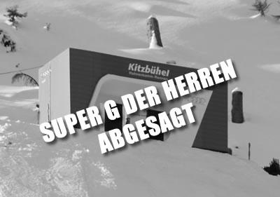 Der Super G der Herren in Kitzbühel ist abgesagt