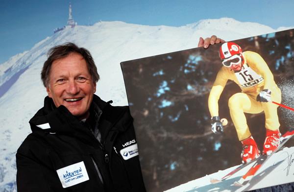 ©  IYOGOC/GEPA Pictures / Franz Klammer heute und damals 1976 auf seinem Olympiaberg