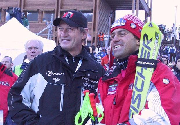 © saslong.org / Ski-Kaiser Franz Klammer und Publikumsliebling Kristian Ghedina