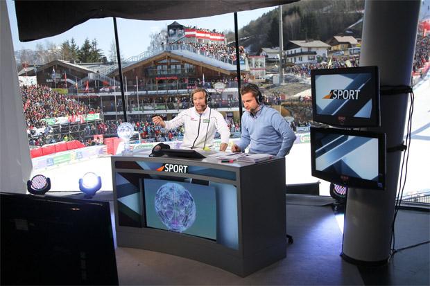 Hans Knauß und Oliver Polzer beim Skiweltcup in Schladming (Foto: ORF)
