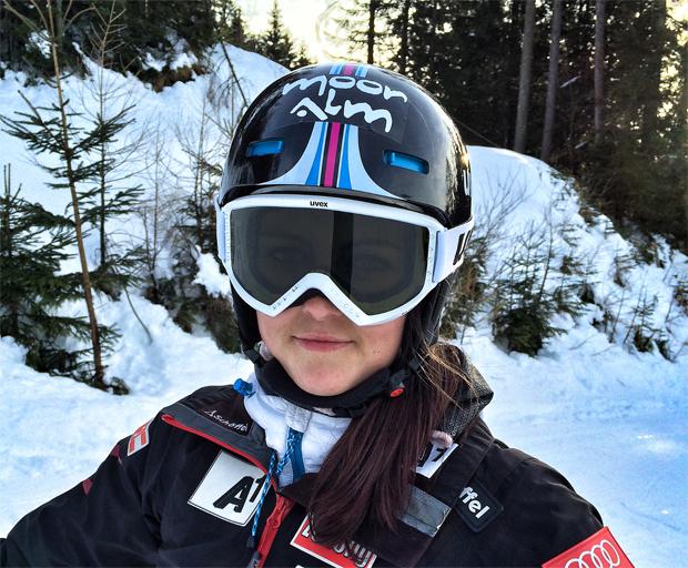 """Hannah Köck im Skiweltcup.TV-Interview: """"In einem gesunden Körper wohnt ein gesunder Geist!"""" (Foto: Privat)"""