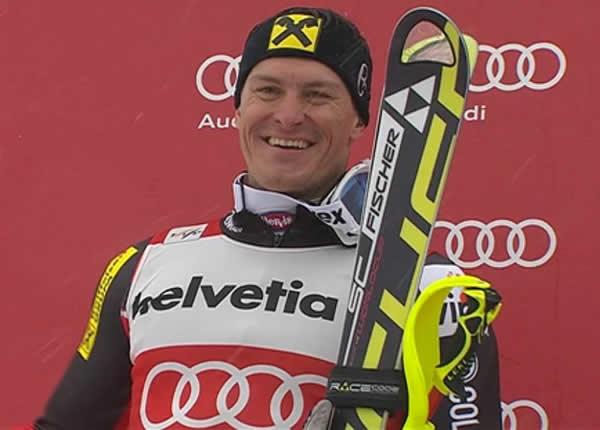 Ivica Kostelić (CRO) in diesem Jahr sichtlich zufrieden mit Rang Zwei