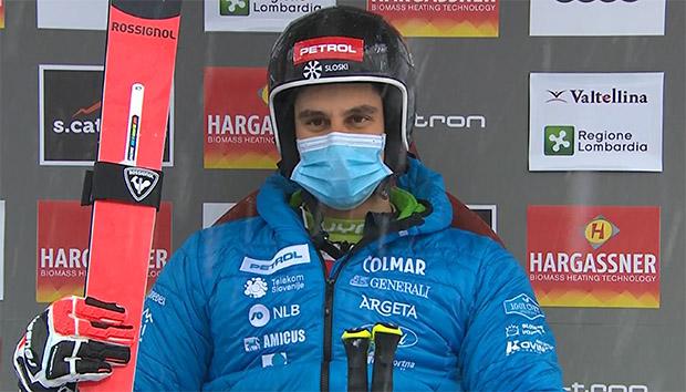 Zan Kranjec übernimmt Führung beim ersten Riesenslalom in Santa Caterina Valfura