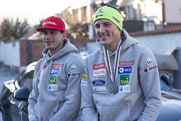 Zan Kranjec und Stefan Hadalin freuen sich auf das Ski Weltcup Opening in Sölden ( © Foto: sloski.si)