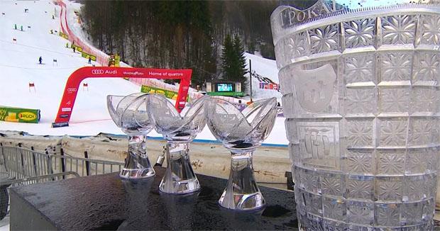 Kranjska Gora ist bereit für die Ski Weltcup Riesenslalom Rennen der Damen
