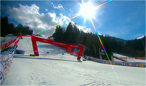 Nach dem Riesentorlauf am Samstag, steht auf dem Podkoren 3 am Sonntag ein Herren Slalom auf dem Programm.