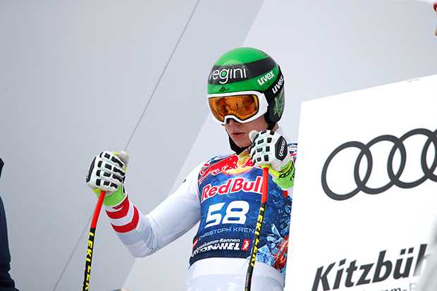 Christoph Krenn in Kitzbühel auf der Streif (© HEAD/Hans Bezard/Zoom Agence)