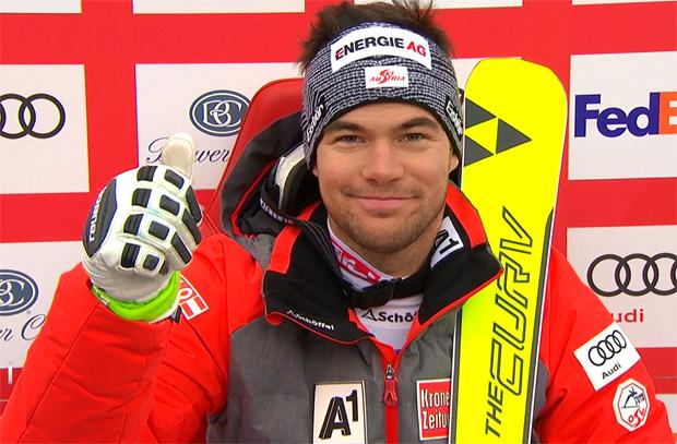 """Vincent Kriechmayr feiert beim Super-G auf der """"Birds of Prey"""" seinen ersten Weltcupsieg"""